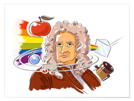 Premium poster  Isaac Newton, English physicist - Harald Ritsch