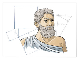 Premium poster  Pythagoras, Ancient Greek mathematician - Harald Ritsch