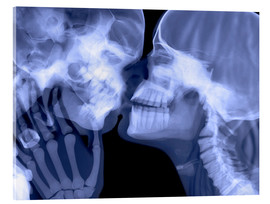 Acrylic glass  Lovers kissing, X-ray - Gustoimages