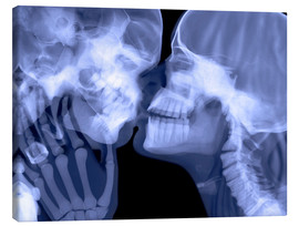 Canvas  Lovers kissing, X-ray - Gustoimages