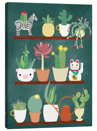 Canvas print  Shelf of a cactus lover - Elisandra Sevenstar