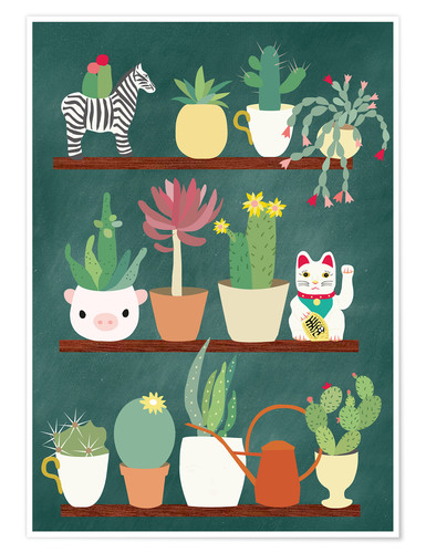 Premium poster Shelf of a cactus lover