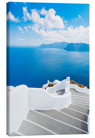 Canvas print  Stairs on Santorini