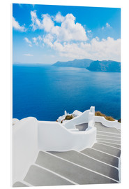 Foam board print  Stairs on Santorini