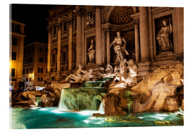 Acrylic glass  Trevi Fountain in the night - Reynold Mainse