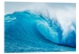 Acrylic glass  Beautiful Blue Ocean Wave