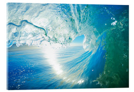 Acrylic glass  Blue Ocean Wave