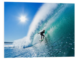 Foam board print  Surfer on blue wave