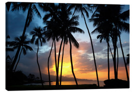 Canvas print  Sunset in Maui - Ron Dahlquist