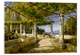 Acrylic print  Pergola on Capri overlooking the Vesuvius - Peder Mørk Mønsted