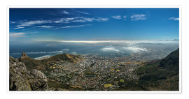 Premium poster  Panorama Cape Town South Africa - Achim Thomae