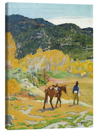 Canvas print  The horse - Walter Ufer