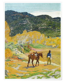 Premium poster  The horse - Walter Ufer