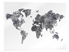 Acrylic print  World Map - Dried