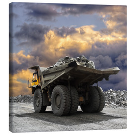 Canvas print  Severe weather in the gravel pit