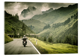 Acrylic print  Road trip through the mountains