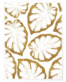 Premium poster  Monstera Gold - Uma 83 Oranges