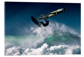 Acrylic print  Windsurfer in the air - Ben Welsh