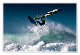 Premium poster Windsurfer in the air