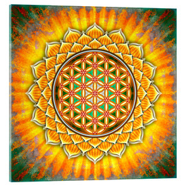 Acrylic print  Flower of life - yellow lotus - Dirk Czarnota