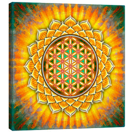 Canvas  Flower of Life - Yellow Lotus - Dirk Czarnota