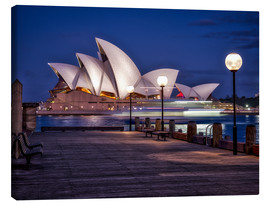 Canvas  A boat passes through the Sydney Opera House - Jim Nix