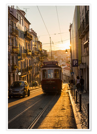 Premium poster  Tram in Lisbon, Portugal - Alex Treadway