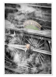 Premium poster  The Flying Scotsman steam-train - John Potter