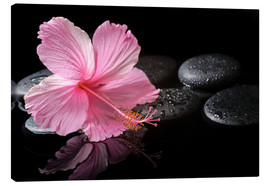 Canvas  Hot Stone Massage with hibiscus