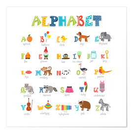 Premium poster  Cheerful alphabet (English) - Typobox