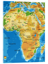 Acrylic print  Africa - Topographic Map