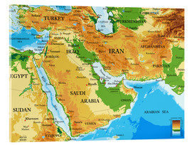 Acrylic print  Middle East - Topographic Map