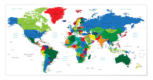 World Political Map 2006 Posters And Prints Posterlounge Com