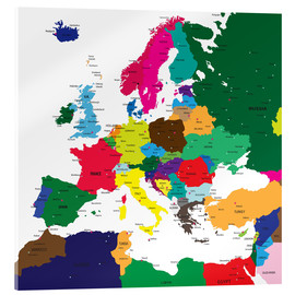 Acrylic print  Europe - Political Map
