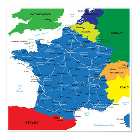 Premium poster France - Political Map