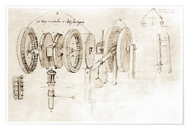 Poster  Mechanical design - Leonardo da Vinci
