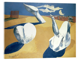 Acrylic print  Stranded figures into the sunset - Paul Nash
