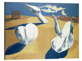 Aluminium print  Stranded figures into the sunset - Paul Nash