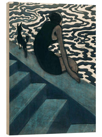 Wood print  La Baigneuse - Léon Spilliaert