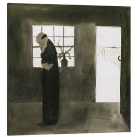 Aluminium print  The meditation - Léon Spilliaert