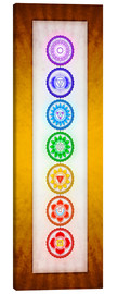 Canvas print  The Seven Chakras Series 6 - Colour Variant Golden Yellow - Dirk Czarnota
