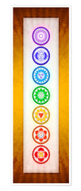 Premium poster The Seven Chakras Series 6 - Colour Variant Golden Yellow
