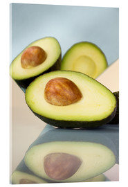 Acrylic print  Mirrored avocado - Julia Bruch