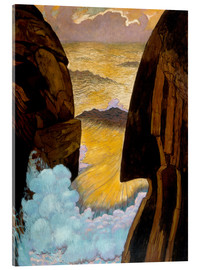 Acrylic print  The Green Wave - Georges Lacombe