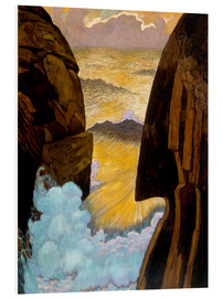 Foam board print  The Green Wave - Georges Lacombe