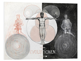 Foam board print  Evolution, No. 1 - Hilma af Klint