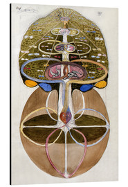 Aluminium print  Tree of Knowledge, No. 1 - Hilma af Klint