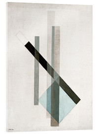 Acrylic print  Construction (glass architecture) - László Moholy-Nagy