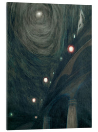 Acrylic print  Moonlight and lights - Léon Spilliaert