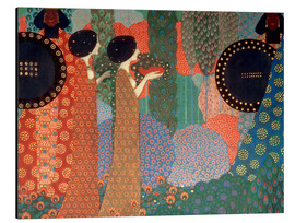 Aluminium print  The princesses and warriors - Vittorio Zecchin